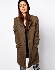 Just Female Army Jacket With Pulled In Waist