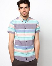 Farah Vintage Shirt with Horizontal Stripe