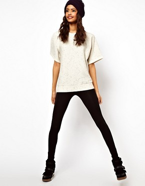 Image 4 ofASOS Sweatshirt with Elastic Hem in Neppy
