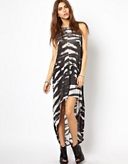 Religion Zebra Print Hi-Low Hem Dress