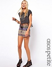 ASOS PETITE Exclusive Shorts In Aztec Print