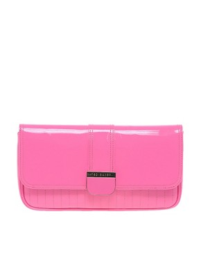 Image 1 ofTed Baker Benet Patent Clutch Bag