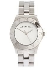 Marc By Marc Jacobs Silver Bracelet And Dial Round Face Watch