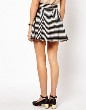 Image 2 ofASOS Jacquard Skater Skirt in Stripe