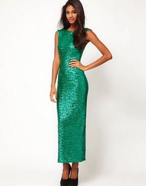 Image 1 ofASOS Maxi Dress in Sequin
