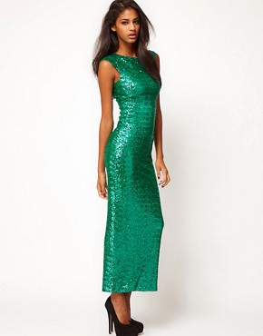 Image 4 ofASOS Maxi Dress in Sequin
