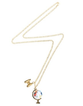 Image 2 ofASOS Spinning Globe &amp; Binoculars Charm Necklace