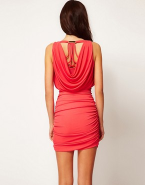 Image 2 ofRiver Island Limited Edition Caged Back Dress