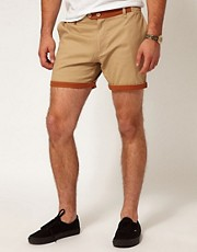 Afends Chino Shorts Sunday Safari Contrast Detail