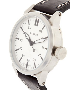 Image 4 ofTsovet Leather Watch
