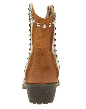 Image 4 ofRiver Island Studded Tan Western Boots
