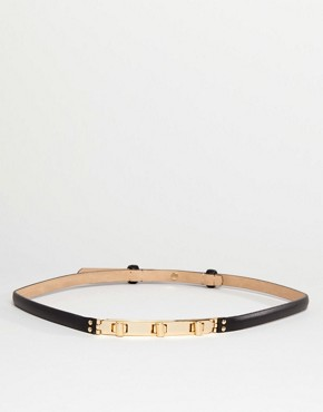 Reiss Leather Belt with Twist Lock