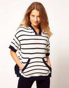 Image 1 ofJuicy Couture Reverse Striped Knit