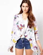 Rare Butterfly Print Kimono Jacket