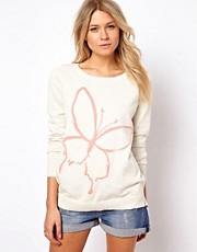 Oasis Sweater With Butterfly