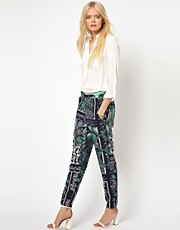 Selected Printed Peg Trousers