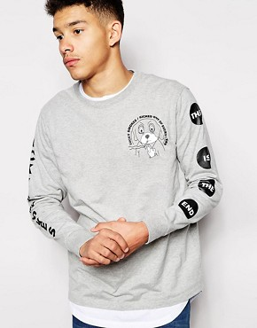 Lazy Oaf Long Sleeve T-Shirt With Back Print