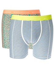 Scotch &amp; Soda 2 Pack Patterned Trunks