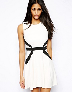 Lipsy Panelled Skater Dress