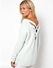 ASOS Chunky Sweater With Strap Cross Back