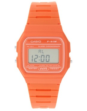 Image 1 ofCasio F11-4A2EF Digital Orange Watch