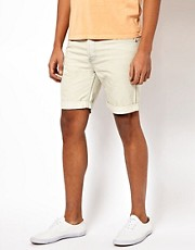 Bellfield Bleached Denim Shorts