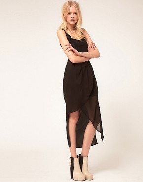 Image 1 ofFactory By Erik Hart Skirt Maxi Wrap Sheer Drape
