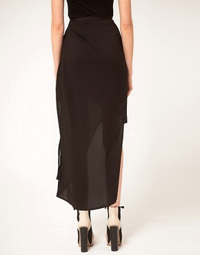 Image 2 ofFactory By Erik Hart Skirt Maxi Wrap Sheer Drape