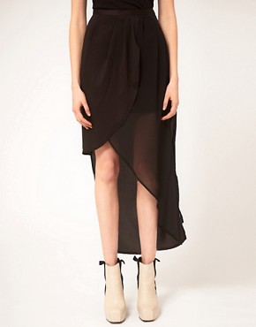 Image 4 ofFactory By Erik Hart Skirt Maxi Wrap Sheer Drape