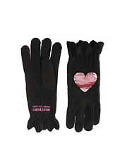Moschino Cheap &amp; Chic Sequin Heart Gloves