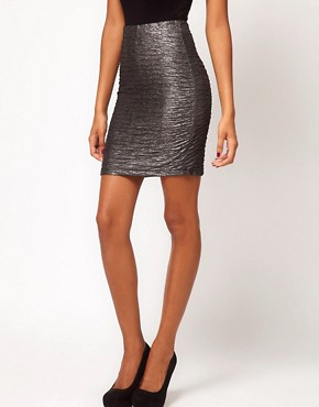 Image 4 ofMotel Metallic Pleat Foil Mini Skirt