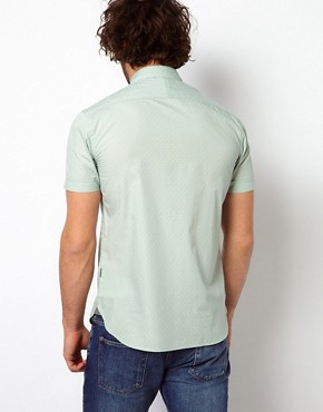 Image 2 ofPaul Smith Jeans Shirt with Short Sleeves &amp; Cross Bandana Print Tailored Fit