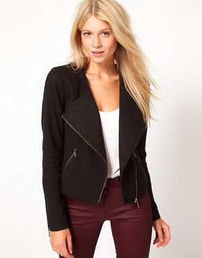 Image 1 ofOasis Boucle Biker Jacket