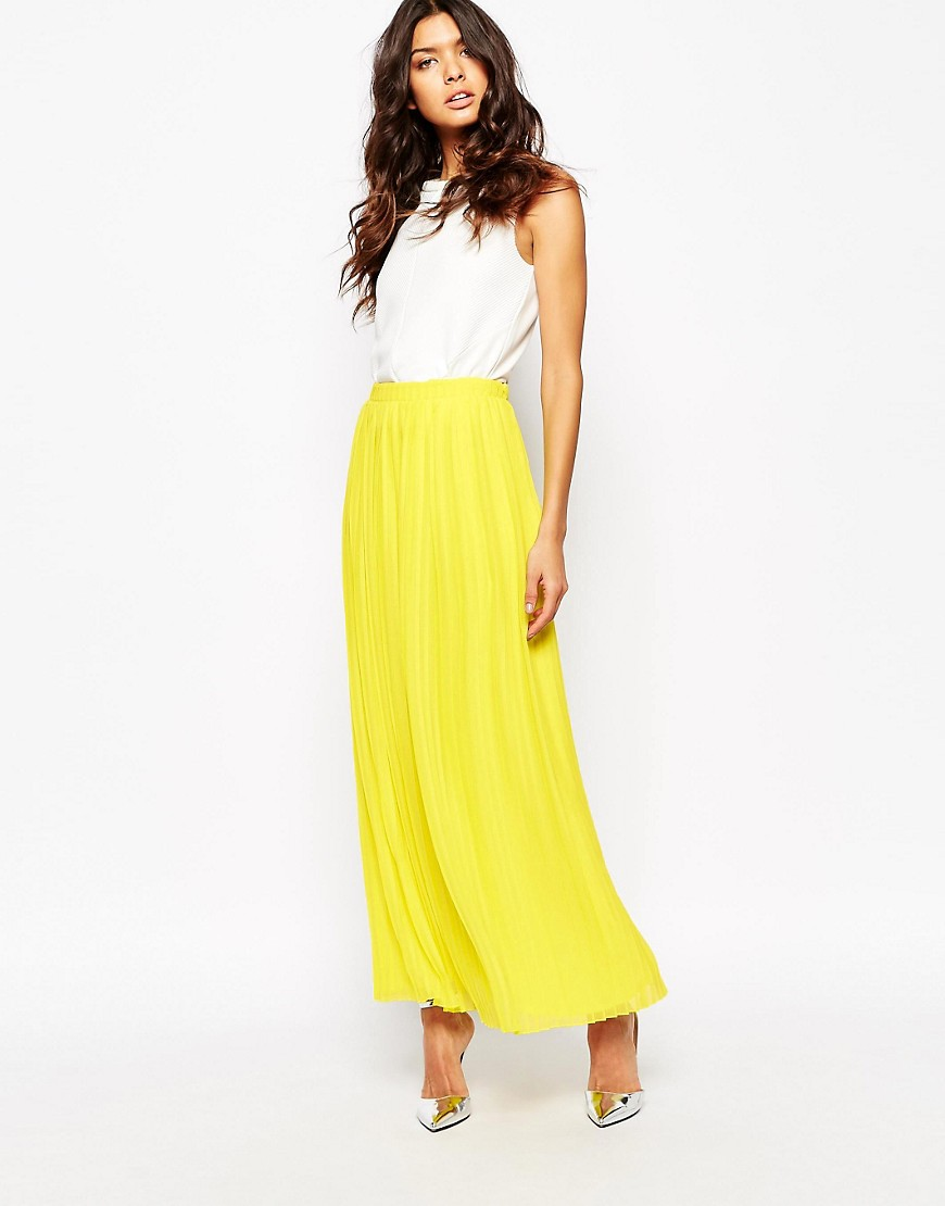 boss-orange-beflowy-pleated-maxi-skirt-yellow
