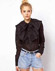 ASOS Shirt with Dramatic Collar and Bow
