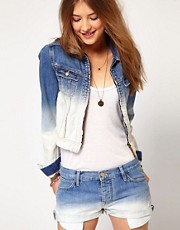 Maison Scotch Bleached Dipped Jacket