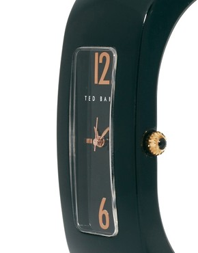 Image 4 ofTed Baker Rectangular Face Resin Strap Watch