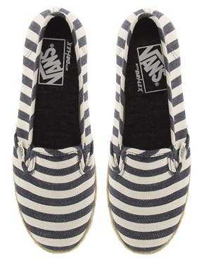 Image 3 ofVans Slip On Low Pro Nautical Stripe Espadrilles