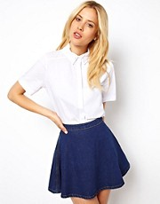 ASOS Shirt in Double Wingtip Collar