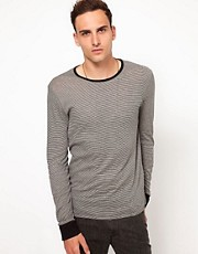 Iro Long Sleeved T-Shirt Fine Stripe