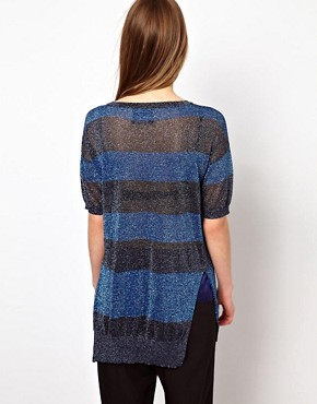 Image 2 of Markus Lupfer Stripe Lurex Jumper