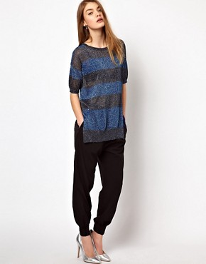 Image 4 of Markus Lupfer Stripe Lurex Jumper