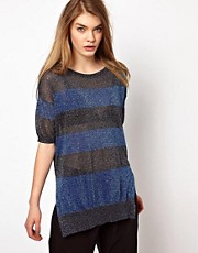 Markus Lupfer Stripe Lurex Jumper