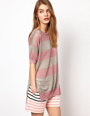 Image 1 of Markus Lupfer Stripe Lurex Jumper