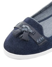 Fred Perry Evelyn Navy Tassle Flat Shoes