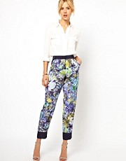 ASOS Trousers In Soft Floral Print