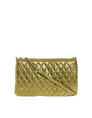 Mango Quilted Metallic Shoulder Bag