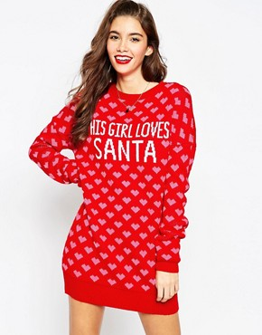 ASOS 'This Girl Loves Santa' Christmas Jumper Dress