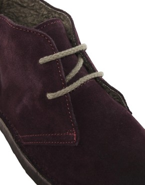 Image 2 of Selected Rugby Shearling Desert Boots