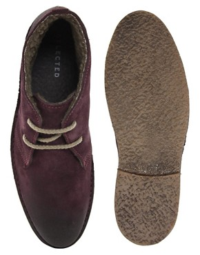Image 3 of Selected Rugby Shearling Desert Boots